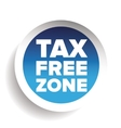 Tax free blue sticker vector image vector image