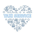 taxi service heart concept outline vector image vector image