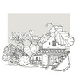 vegan house lovely cartoon home made from vector image vector image