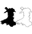 walesh map vector image vector image