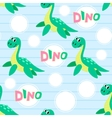 Water dinosaur seamless pattern vector image