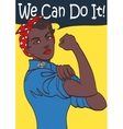 We Can Do It World War 2 poster boosting morale vector image