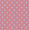 Seamless polka dot red pattern with circles vector image