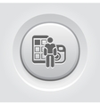 Blogger Icon Concept vector image