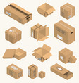 moving box isometric isolated vector image