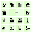 14 home icons vector image vector image