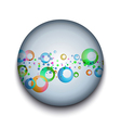 abstract bubble app icon vector image vector image