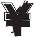 abstract yen symbol vector image