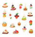 appetizer appetizing food and snack meal vector image vector image