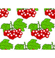 arrowwood fruits pattern vector image vector image