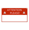 attention text frame vector image vector image