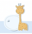 Baby boy shower card with cute giraffe vector image vector image