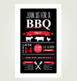 Barbecue party invitation Bbq brochure menu design vector image vector image