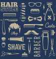 barber tools seamless texture vector image vector image