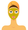 beauty mask vector image