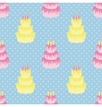 Birthday cake pattern vector image