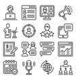 blog and video blogger icons set vector image