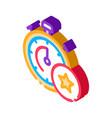 bonus stopwatch concept isometric icon vector image vector image
