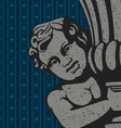 cherub sculpture vector image vector image