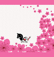 chinese new year 2018 plum blossom year of the dog vector image vector image