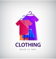 clothing logo online shop fashion icon vector image vector image