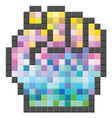Colorful pixelated computer cursor vector image vector image