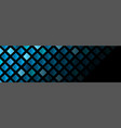 dark blue abstract geometric banner with squares vector image vector image