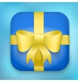 Design Gift Icon for Web and Mobile vector image