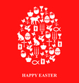 easter cet egg red vector image