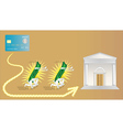 electronic money is very fast vector image vector image