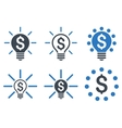 Financial Idea Bulb Flat Icons vector image