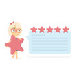 girl with a star in her hands online reviews vector image