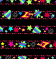 girls cute love sequin seamless pattern vector image vector image