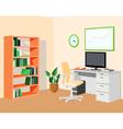 GreenOrangeEcoOffice vector image