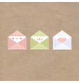 greetings letter envelopes kraft paper vector image vector image