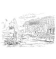 grey hand drawing st petersburg 6 vector image vector image