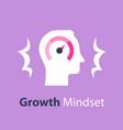 growth mindset potential development vector image