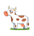 happy cartoon cow vector image