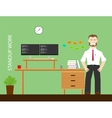 healthy worker vector image