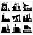 industry icons vector image vector image