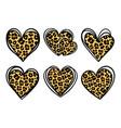 leopard prints leopard hearts cheetah vector image