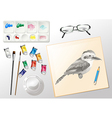 Materials used when painting vector image vector image