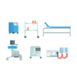 medical surgery and examination rooms equipment vector image vector image