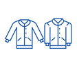 men pullover line icon concept men pullover flat vector image vector image