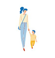 mom walking with child vector image vector image