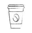 paper coffee cup bean fresh beverage vector image