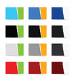 paper collection in color set vector image vector image