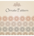 Pattern in Eastern style on scroll work background vector image vector image