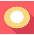 Plate icon flat style vector image vector image