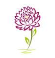 purple artistic flower vector image